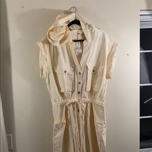 Women's Free People white utility jumpsuit Large L